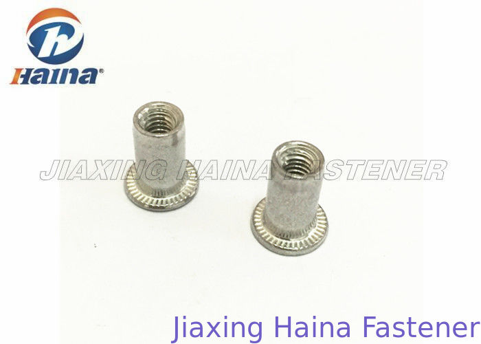 Aluminum Round Body Blind Rivets Nuts M4 M6 M8 Flat Head Without Knurled