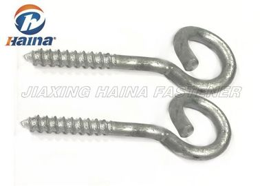 Gr 4.8 Hot Dip Galvanized Screw Eye Hooks / Metric Bigtail Eye Bolt