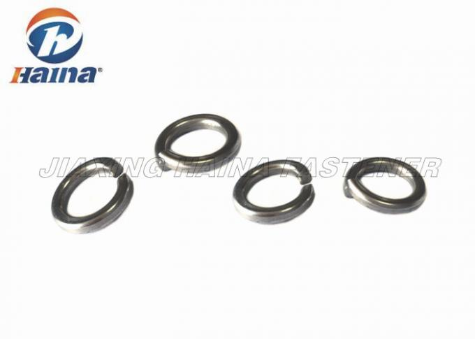 A2 Stainless Steel Spring Lock Washer Self Color 2 - 30mm Diameter With Square End