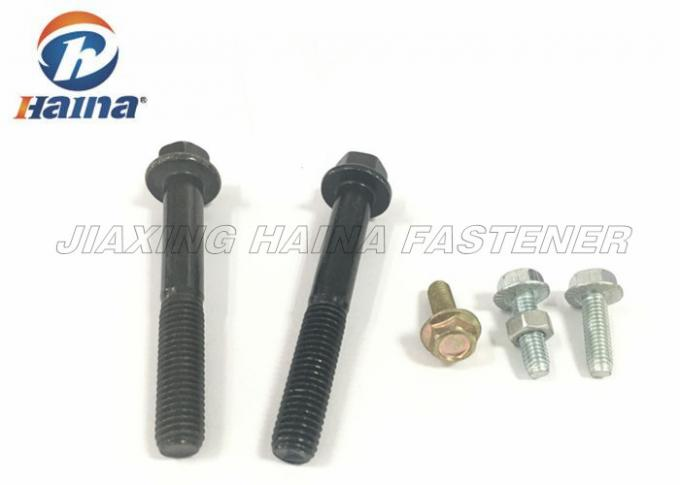 DIN6921 High strength grade 8.8/10.9/12.9 black hexagon flange bolts