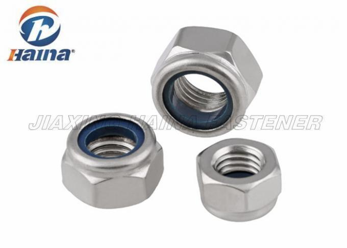 Stainless Steel 304 Metric Thead Hex Nylon Inset Lock Nuts DIN985 DIN982