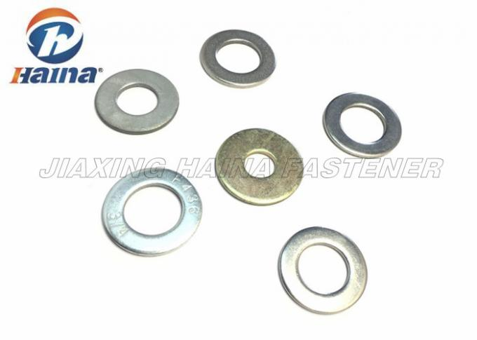 A2 70 / A4 80 Stainless Steel Flat Washers Plain Finish For Home Decorating