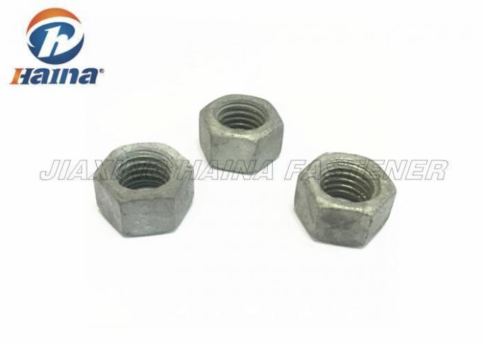 Aluminum / Brass Hex Head Nuts Galvanized Hot Dip M14 GR8.8 UNC For Wind Energy